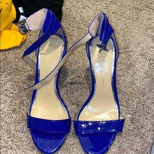 Blue Jessica Simpson Sandal Heels